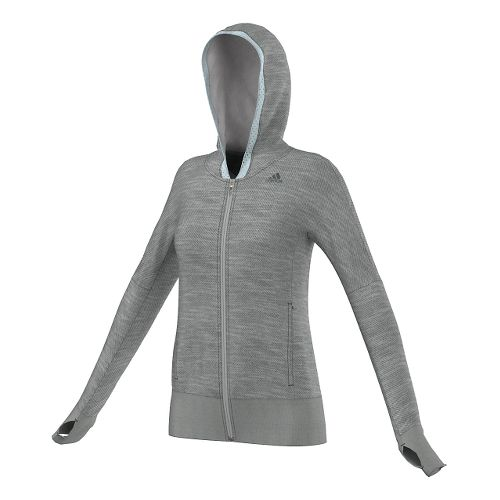 Womens adidas Supernova Beyond The Run Hoodie Outerwear Jackets - Grey Heather XL