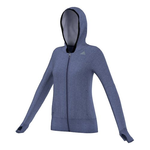 Womens adidas Supernova Beyond The Run Hoodie Outerwear Jackets - Midnight Indigo XS