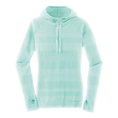 Womens Brooks Streaker Hoodie Long Sleeve Technical Tops - Heather Surf M