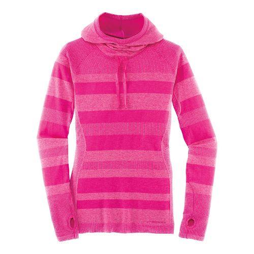 Womens Brooks Streaker Hoodie Long Sleeve Technical Tops - Heather Bloom M