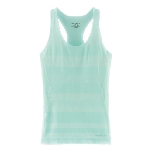 Womens Brooks Streaker Racerback Sleeveless & Tank Technical Tops - Heather Surf M
