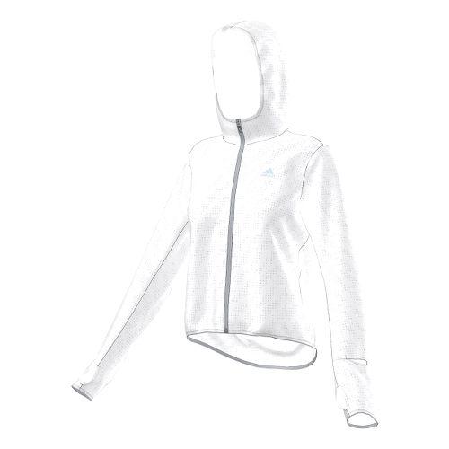 Womens adidas Supernova Run Transparent Lightweight Jackets - White M
