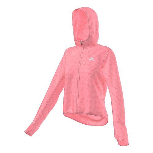 Womens adidas Supernova Run Transparent Lightweight Jackets - Super Pop XS