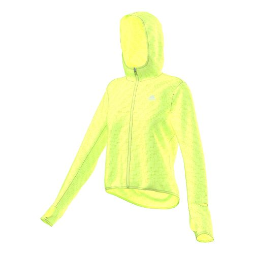 Womens adidas Supernova Run Transparent Lightweight Jackets - Frozen Yellow L