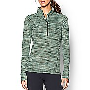 Womens Under Armour Tech Space Dye Long Sleeve Half Zip Technical Tops