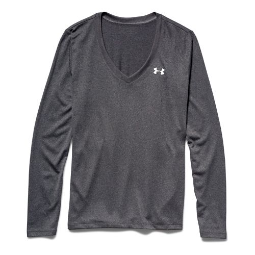 Womens Under Armour Tech Long Sleeve Technical Tops - Carbon Heather XS