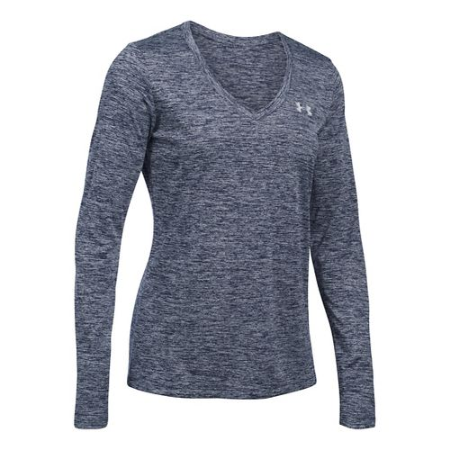 Womens Under Armour Tech Twist Long Sleeve Technical Tops - Midnight Navy L