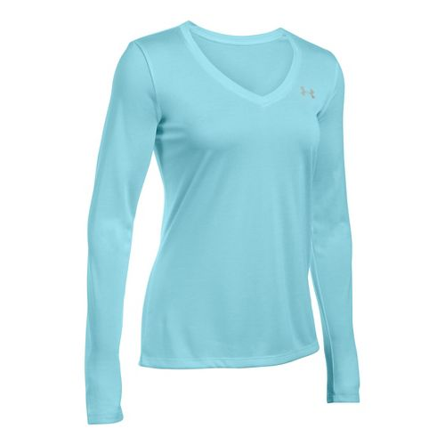 Womens Under Armour Tech Twist Long Sleeve Technical Tops - Maui S