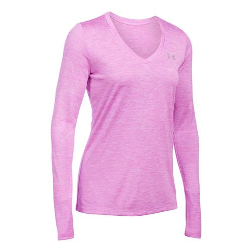 Womens Under Armour Tech Twist Long Sleeve Technical Tops - Verve Violet XS
