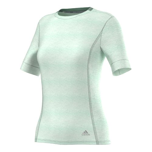 Womens adidas Supernova Tee Short Sleeve Technical Tops - Frozen Green XS