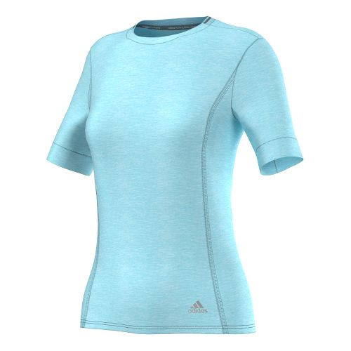 Womens adidas Supernova Tee Short Sleeve Technical Tops - Frozen Blue L