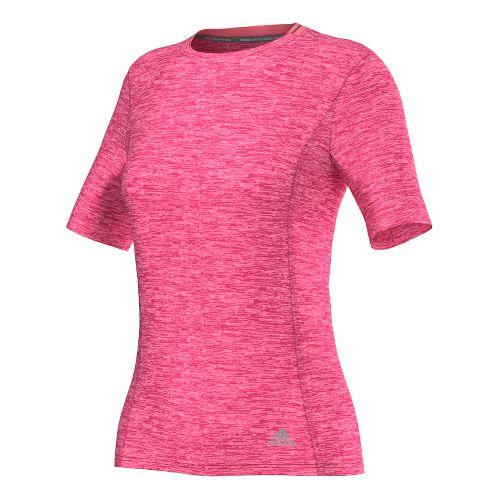 Womens adidas Supernova Tee Short Sleeve Technical Tops - Super Pink S