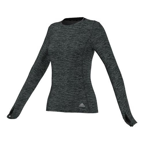 Womens adidas Supernova Tee Long Sleeve No Zip Technical Tops - Black M