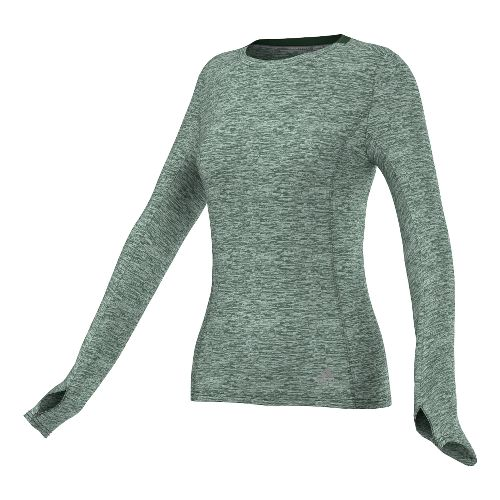 Womens adidas Supernova Tee Long Sleeve No Zip Technical Tops - Base Green S
