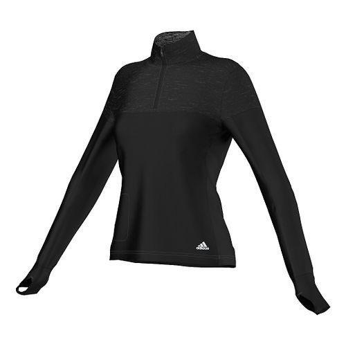 Womens adidas Supernova Storm Long Sleeve Half Zip Technical Tops - Black S