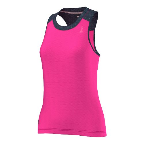 Womens adidas AKTIV Tank- Pink Ribbon Tank Technical Tops - Intense Pink/Pink L