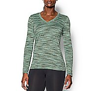 Womens Under Armour Tech Space Dye Long Sleeve No Zip Technical Tops