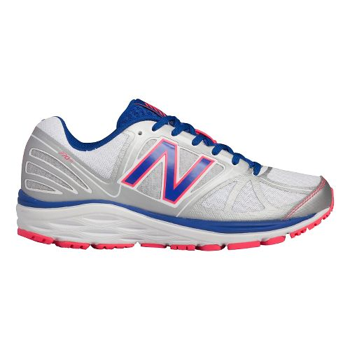 Womens New Balance 770v5 Running Shoe - White/Blue 7.5