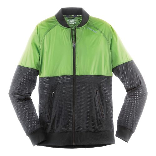 Mens Brooks Run-Thru Running Jackets - Black/Forest M