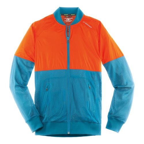 Mens Brooks Run-Thru Running Jackets - River/Desert XL