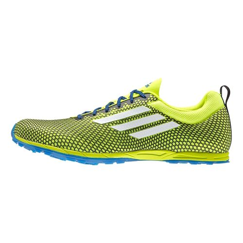 Mens adidas XCS 5 - Spikes Cross Country Shoe - Yellow/Blue 5