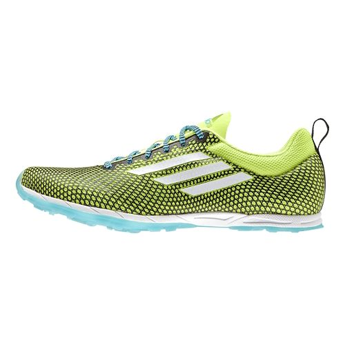 Womens adidas XCS 5 - Spikes Cross Country Shoe - Yellow/Cyan 11.5