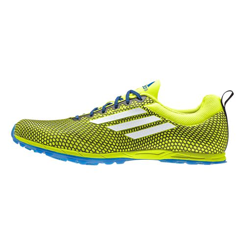 Mens adidas XCS 5 - Spikeless Cross Country Shoe - Yellow/Blue 12