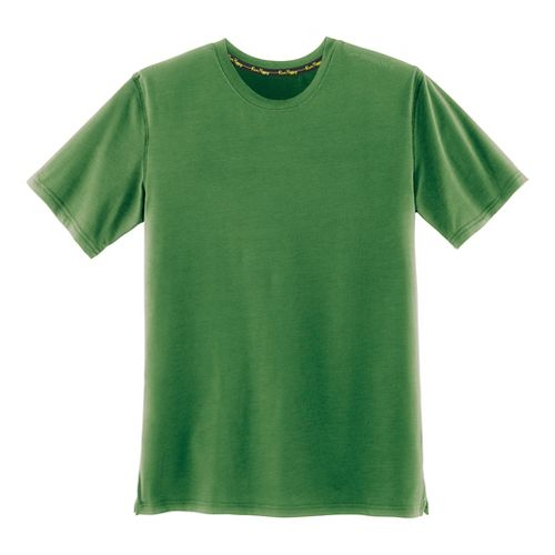 Mens Brooks Distance Short Sleeve Technical Tops - Heather Forest XXL