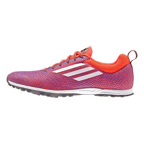 Womens adidas XCS 5 - Spikeless Cross Country Shoe - Red/Night Flash 12
