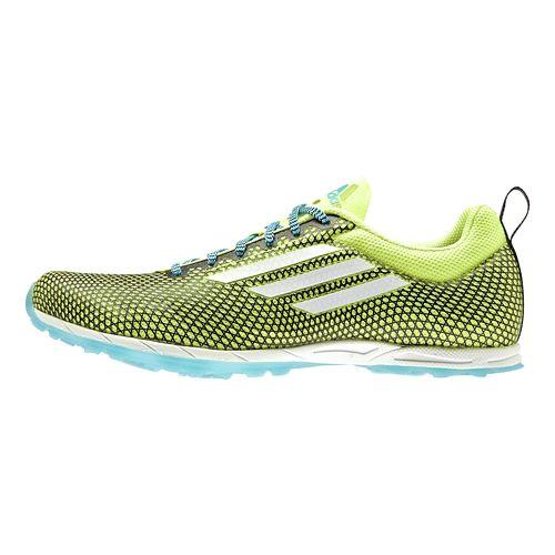 Womens adidas XCS 5 - Spikeless Cross Country Shoe - Yellow/Cyan 9