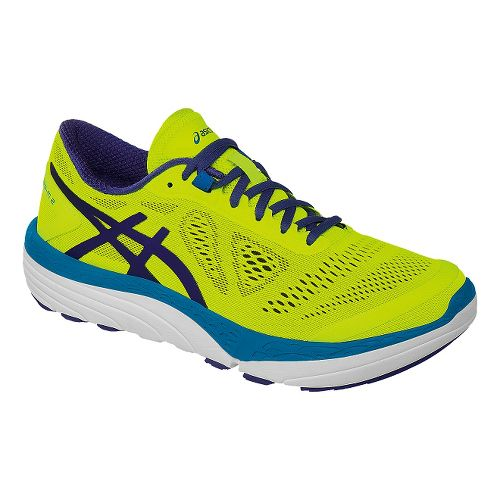 Mens ASICS 33-M 2 Running Shoe - Safety Yellow/Blue 9