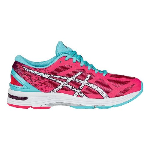 Womens ASICS GEL-DS Trainer 21 Running Shoe - Pink/Turquoise 10