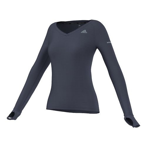 Womens adidas Infinite Series Long Sleeve Technical Tops - Midnight Grey XL