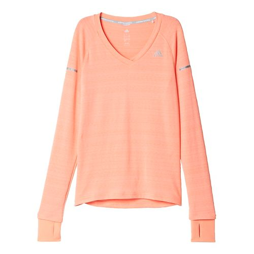 Womens adidas Infinite Series Long Sleeve Technical Tops - Sun Glow XS
