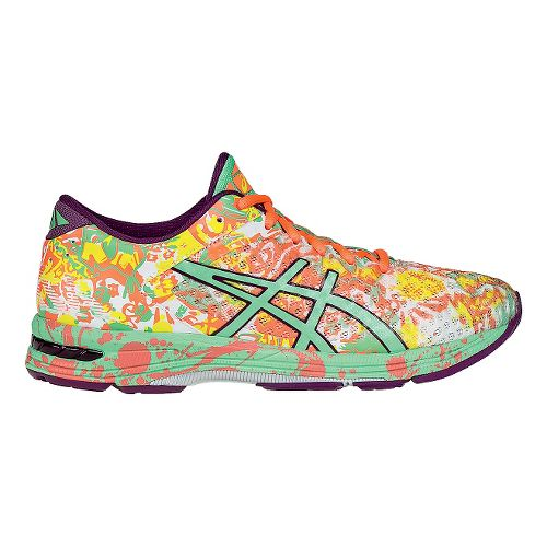 Womens ASICS GEL-Noosa Tri 11 Running Shoe - Coral/Green 9.5