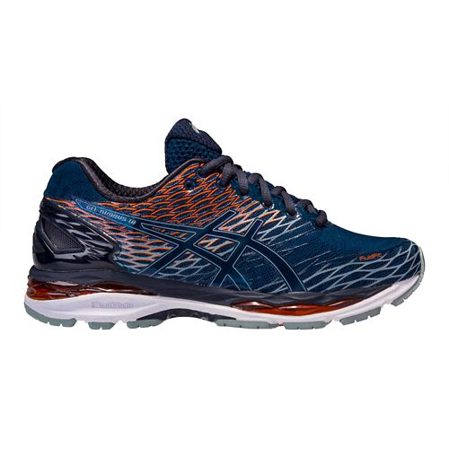 Mens ASICS GEL-Nimbus 18 Running Shoe - Navy/Orange 12.5
