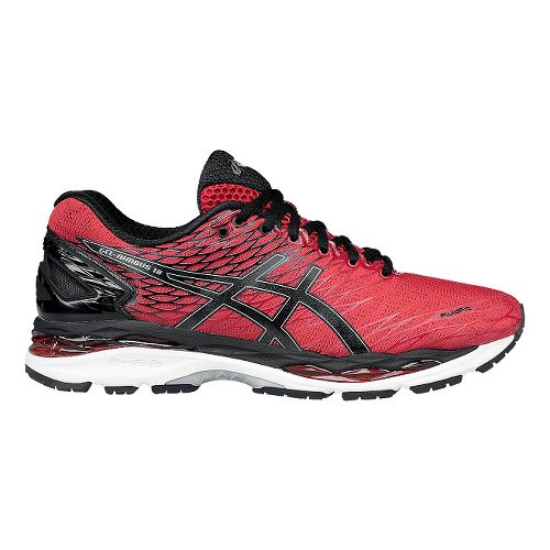 Mens ASICS GEL-Nimbus 18 Running Shoe - Red/Black 11