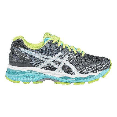 Womens ASICS GEL-Nimbus 18 Running Shoe - Titanium/Turquoise 12.5