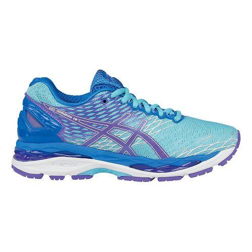 Womens ASICS GEL-Nimbus 18 Running Shoe - Turquoise/Iris 7.5