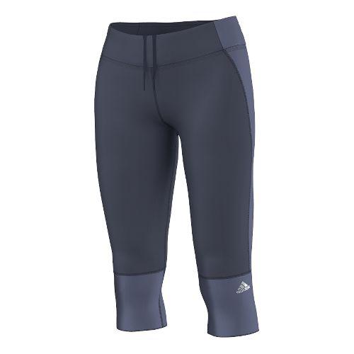 Womens adidas Supernova Three-Quarter Capri Tights - Midnight Grey L