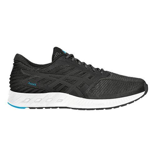Mens ASICS fuzeX Running Shoe - Black/Blue 10.5