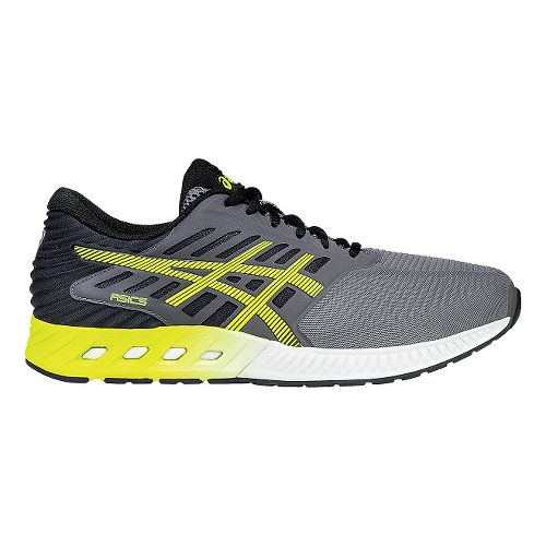 Mens ASICS fuzeX Running Shoe - Carbon/Yellow 8.5