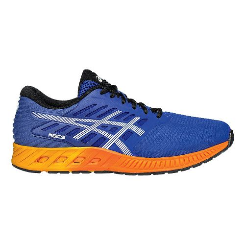 Mens ASICS fuzeX Running Shoe - Blue/Orange 11