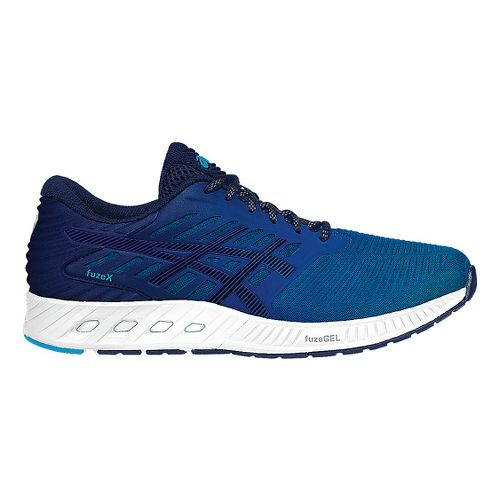 Mens ASICS fuzeX Running Shoe - Blue/Blue 8