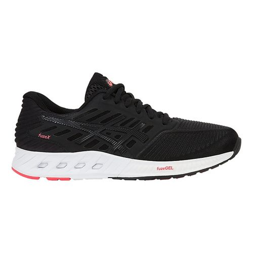 Womens ASICS fuzeX Running Shoe - Black/Pink 9