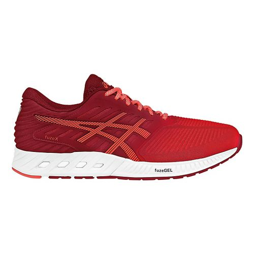 Womens ASICS fuzeX Running Shoe - Red/Coral 9.5