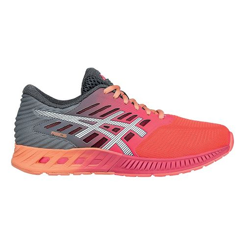 Womens ASICS fuzeX Running Shoe - Pink/Carbon 7.5