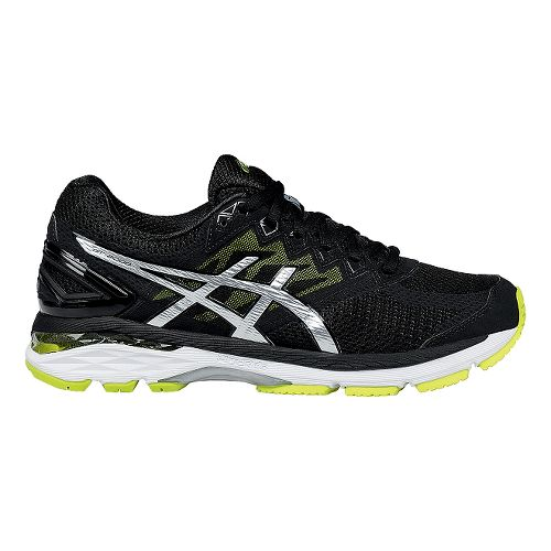Mens ASICS GT-2000 4 Running Shoe - Black/Lime 10
