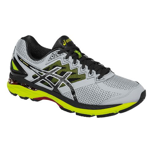 Mens ASICS GT-2000 4 Running Shoe - Grey/Safety Yellow 7.5