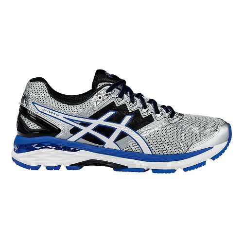 Mens ASICS GT-2000 4 Running Shoe - Silver/Royal 8.5